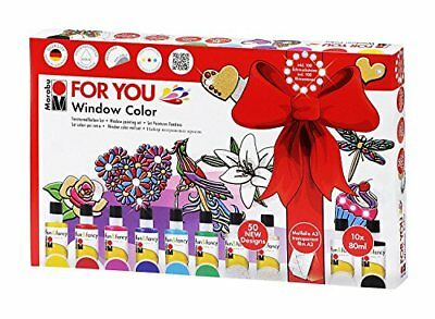 "Marabu Window Color ""fun & fancy"" Set FOR YOU Fenster Farbe  Fenstermalfarben"
