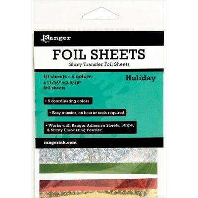 "Inkssentials Foil Sheets 4.69""x3.56"" 10/pkg-holiday 4.69""x3.56"""