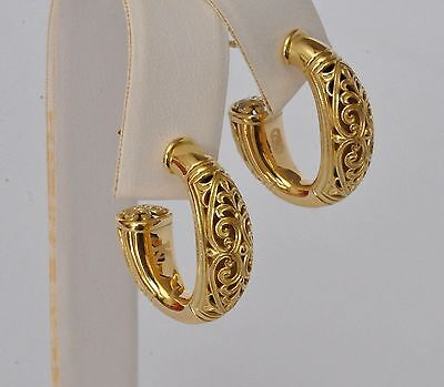Konstantino Classic  Hoop Earrings 18K Yellow Gold Flamenco Collection New