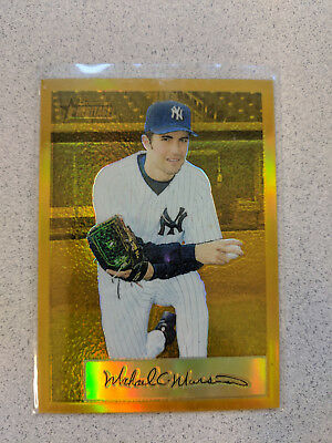 2002 Bowman Heritage Mike Mussina Chrome Gold Refractor #/175