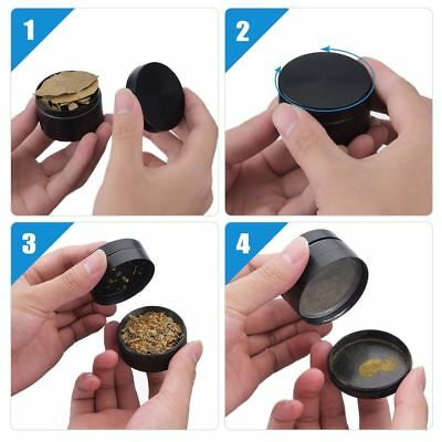 "2"" Tobacco Herb Grinder Spice Herbal Zinc Alloy Smoke Crusher 4 Pieces Metal USA"