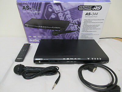 Acoustic Solutions AS-344 DVD Karaoke Machine with Microphone