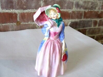 """ROYAL DOULTON MISS DEMURE LADY FIGURINE """"7 1/2"""" HIGH """"Rd No 753474''"""