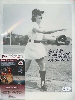 "Nickie Fox "" A League of Their Own "" Signed 8x10 Photo AUTO JSA COA"