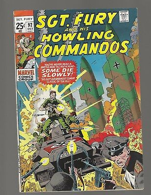 Sgt Fury And His Howling Commandos #92 Some Die Slowly