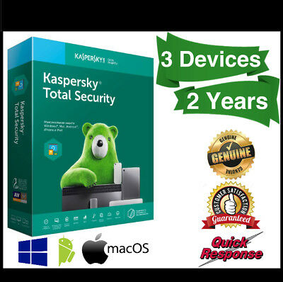 Kaspersky Total Security 2019 3 Devices 2 Years | PC | MAC | Android