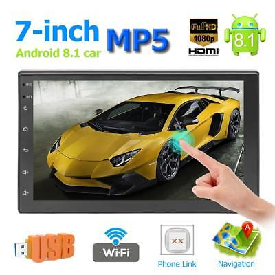 2Din 7''Touch Screen Android 8.1 Car Stereo MP5 Player GPS Navi WiFi BT FM Radio