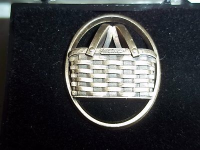 NEW Longaberger Basket Bronze Brooch Pin Home Consultant R7/04 Storage Box