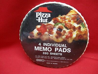 Vintage 1984 Pizza Hut Memo Pads - Never Used Factory Sealed