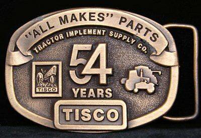 Hg14134 Vintage 1991 **tractor Implement Supply** 54 Brasstone Buckle