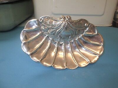 Art Noveau Egyptian solid Silver 900 Bon Bon sweet dish Footed shell 71 gm