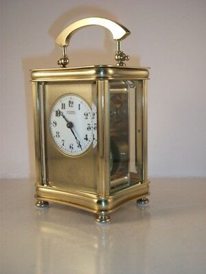 Antique Brass Carriage Clock With Masked Dial. Key.  Full Service Dec. 2018