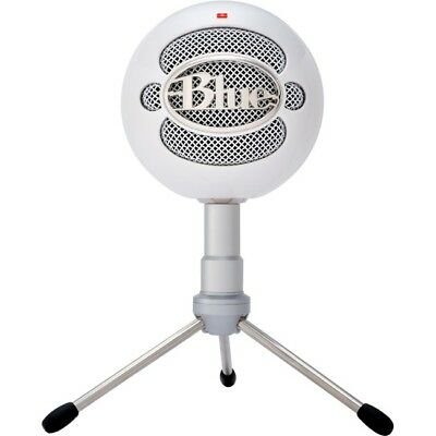 Blue Microphones Snowball iCE Condenser USB Wired Microphone, Cardioid - White