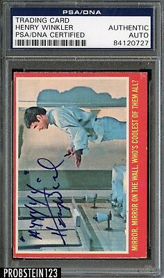 Henry Winkler THE FONZ Signed 1976 O-PEE-CHEE OPC HAPPY DAYS PSA/DNA AUTO