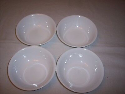 Set of 4 Corning Corelle Ware Winter White Frost Soup/Cereal Bowls