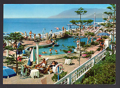 Bordighera Imperia Cartolina Piscina S. Marco Beach Fg Vg 1964 - Rotalcolor
