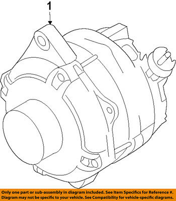 250 Amp High Output Gm Cs144 Large Case Alternator Chevrolet 1 Wire