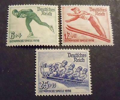 Germany Third Reich 1935 Berlin Winter Olympic Games stamp set -MH- COMPLETE