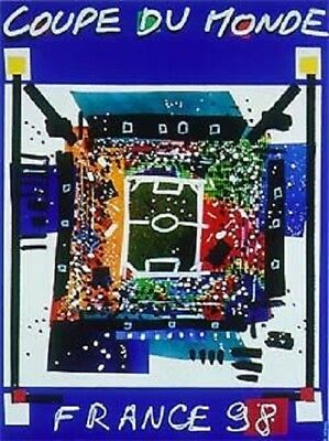 World Cup France 98 Official Poster 1998 in Original Closed Tube with Hologram