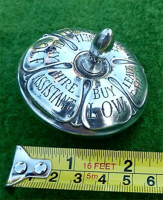 VINTAGE SILVER MOUNTED NOVELTY DECISION SPINNER BY GORHAM STERLING (USA) c1940's