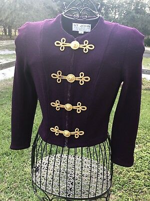 St. John Collection By Marie Gray Size 2 Purple and Gold Jacket