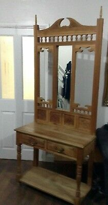 Vintage Hall Stand Solid Wood 1930's