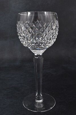 Beautiful Signed WATERFORD Crystal ALANA 7 3/8 Glass WINE HOCK Goblet 8