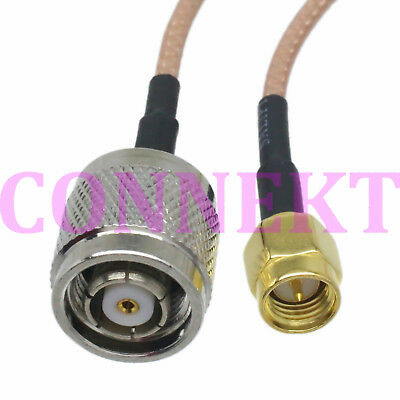 RP-TNC male jack to SMA male plug straight RG316 cable jumper pigtail 15cm