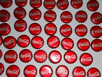Coca-Cola Lot 25 Soda Bottle Caps Used Plastic-lined