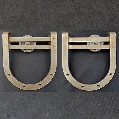 Antique Barn Door Hardware / Horseshoe Rollers / Large 10 Inch* Size / Set Of 2