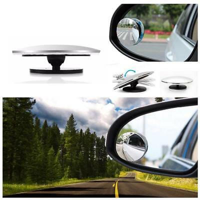 2pcs 360° Rotate Car Rear View Mirror Adjustable Wide Angle Blind Spot Mirror AU