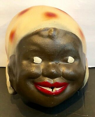 ~Vintage Black Americana~String Holder~Smiling Black Woman~What A Great Face!