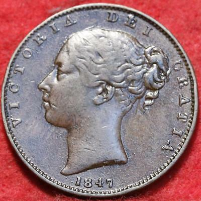 1847 Great Britain 1 Farthing Foreign Coin