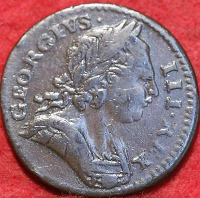 1773 Great Britain 1 Farthing Foreign Coin