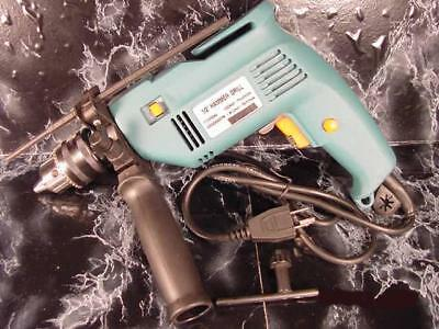 """1/2 """" Electric IMPACT / HAMMER DRILL Variable Speed and Reversible w/ Chuck new"""