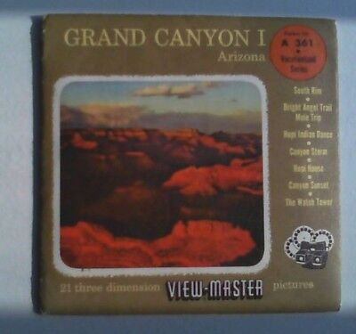Grand Canyon I   View Master  S4  Packet  1959
