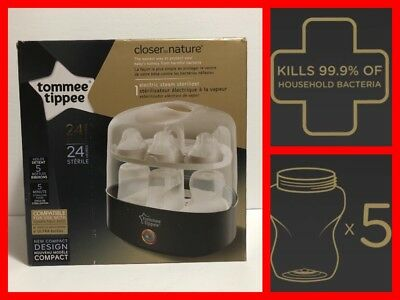 TOMMIE TIPPIE Closer To Nature 5-Minute Electric Steam Sterilizer (5 Bottle) NIB