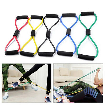 8-Shaped Resistance Training Bands Rope Tube Workout Stretch Exercise Gym Tool