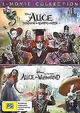Alice In Wonderland / Alice Through The Looking Glass (DVD, 2018, 2-Disc Set)