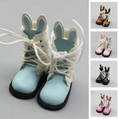 1 Pair Rabbit Boots PU Leather For Blyth Doll 1/6 30cm Bjd Doll Shoes Accessory