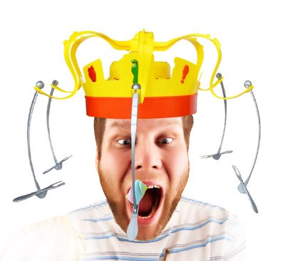 Chow Crown Game Fun Toys Gift Musical Food Challenge Family Party Game Hat