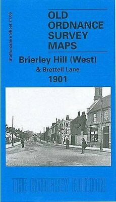 Old Ordnance Survey Map Brierley Hill West & Brettell Lane 1901