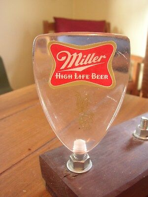 Miller High Life Beer vintage acrylic Tap Handle, small