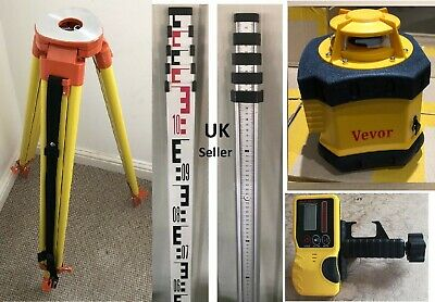 Rotating Laser Level with staff and tripod calibrated
