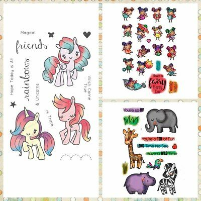 Magical Friends Transparent Clear Silicone Stamp DIY Scrapbook Handcrafts Decor