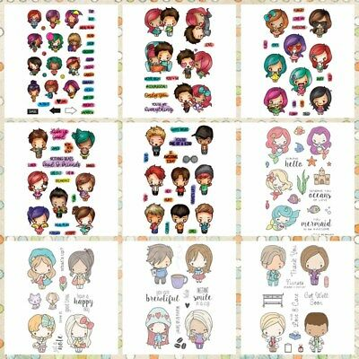 Mini Girls&Boys Transparent Clear Silicone Stamp DIY Scrapbooking Card Handcraft