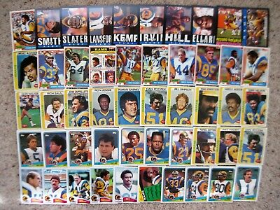 RAMS CARDS 51 LOT 1978 1981 1982 1984 1985 1988 Topps Ex-Mint to Mint