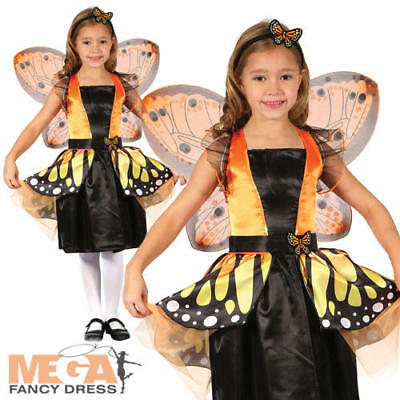 Butterfly Fairy Girls Fancy Dress Insect Animal Kids World Book Day Costume New