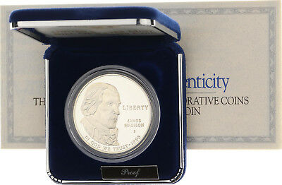 USA - Dollar 1993 S - Silber - Bill of Rights Madison - PP Proof