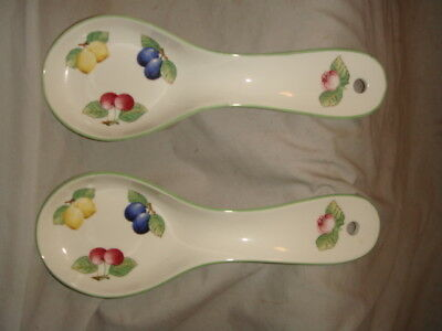 Lot 2 Villeroy and Boch French Garden Fleurence Spoon Rests